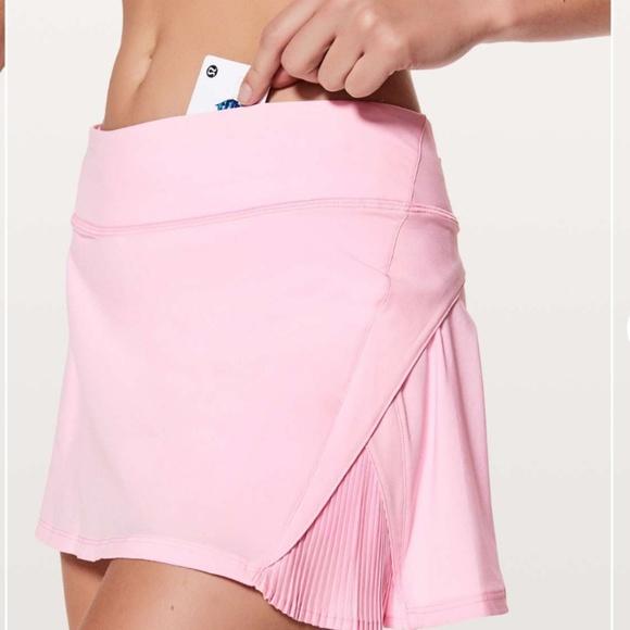 b0a7d52ef lululemon athletica Dresses & Skirts - LULULEMON Play Off The Pleats Skirt  Pink Size 2